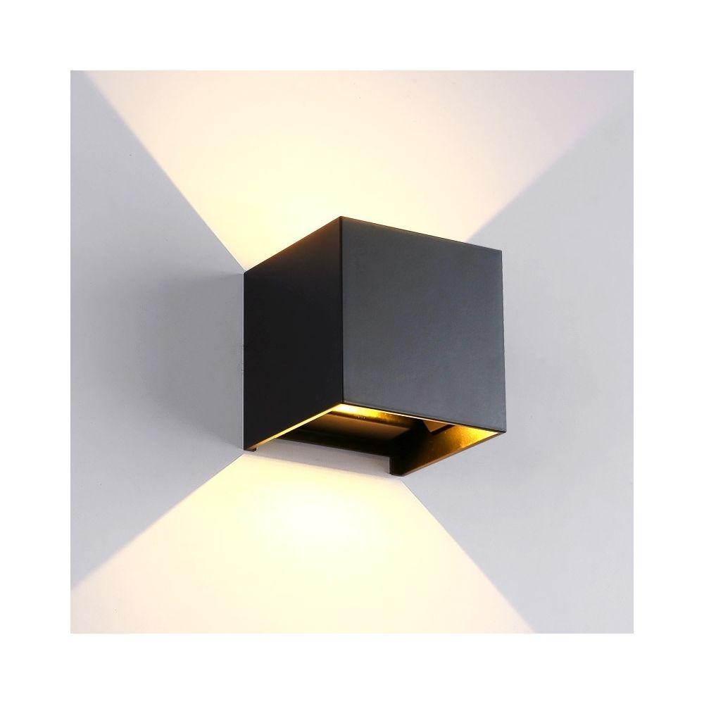 Wewoo Applique murale LED à COB en aluminium noir, lumière blanche, 6W, intérieure & extérieure en forme de cube pour salon, c