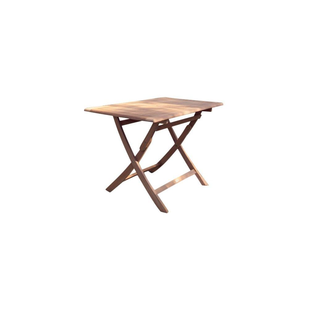 Proloisirs Table rectangulaire pliante look teck