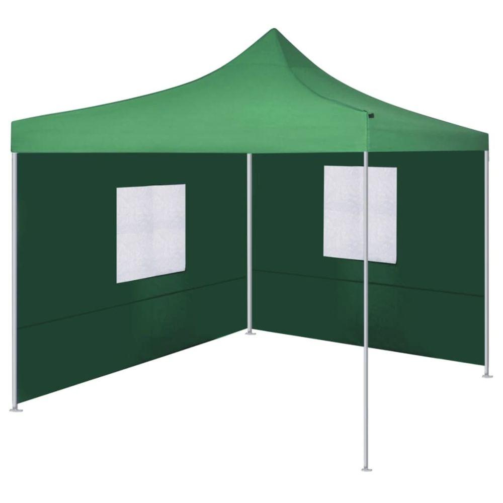 Vidaxl vidaXL Tente Pliable avec 2 Parois Vert Pavillon Terrasse Tonnelle de Jardin