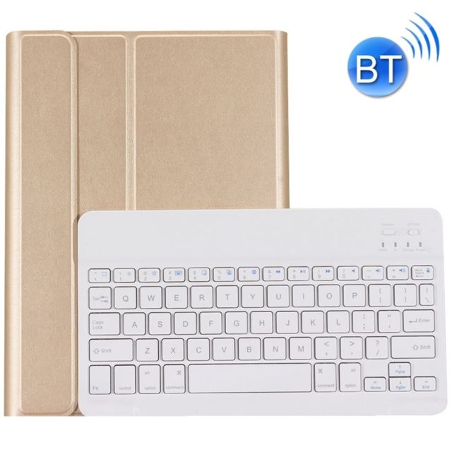 Wewoo - Clavier QWERTY or pour iPad Air & Air 2 & Pro 9.7 & 9.7 pouces 2017 Ultra-mince ABS Bluetooth Horizontal Housse en cuir avec support - Clavier