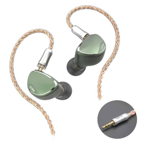 Generic - BQEYZ Spring 2 In Ear Monitor Stéréo HiFi Headphones Hybrid BA Dynamic Driver Piezoelectric Headset Detachable Earphone Cable with - Micro-Casque