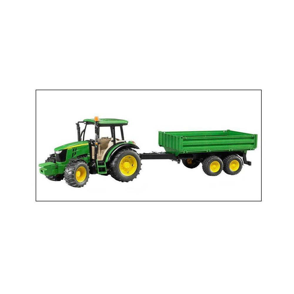 Bruder Bruder 02108 Tracteur John Deere 5115M avec Remorque à ridelles