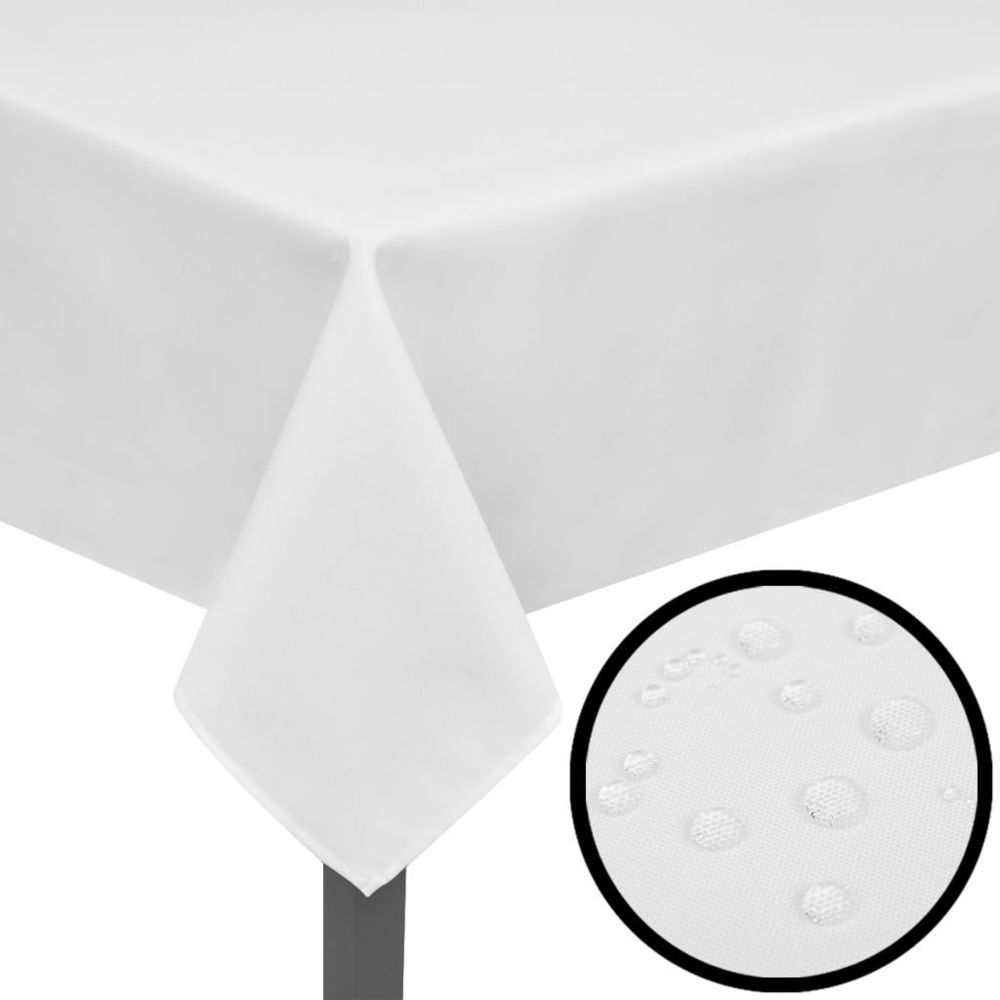 Vidaxl vidaXL 5 Nappes de table Blanc 220 x 130 cm