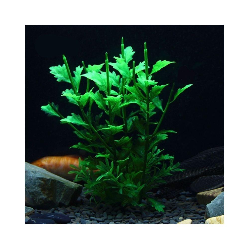 Wewoo Décoration aquarium vert Arbre artificiel Plant Figurines d'herbe Miniatures Fish Tank Paysage, Taille: 17,0 x 25,0 cm