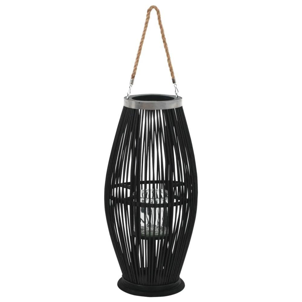 Vidaxl Bougeoir suspendu Bambou Noir 60 cm - Décorations - Accessoires pour parfums d'intérieur - Bougeoirs | Noir | Noir
