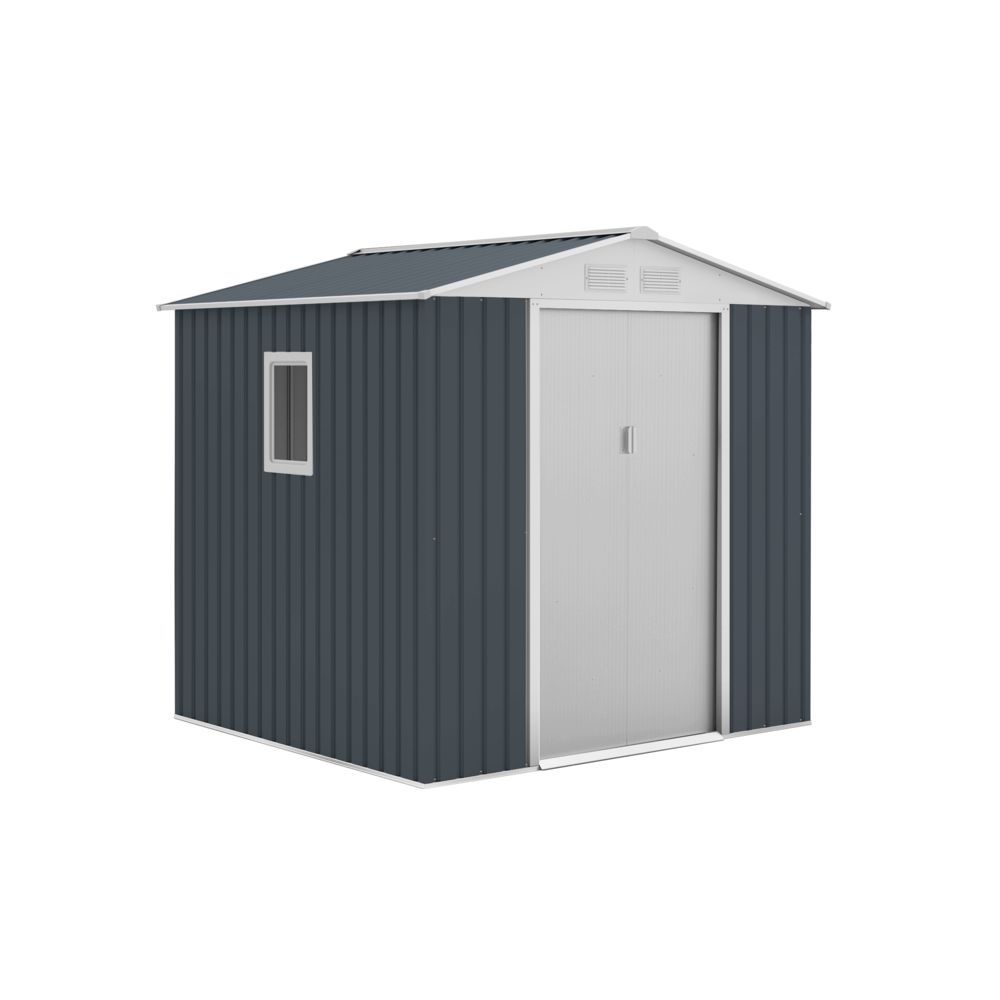 Gardiun Abris en Métal Darlington Anthracite/Blanc 4,07 m² Extérieur - KIS12132 - GARDIUN