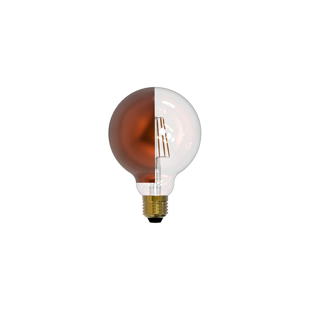 Girard Sudron Globe D95 calotte latérale bronze filament LED 8W E27 2700K 950Lm dim
