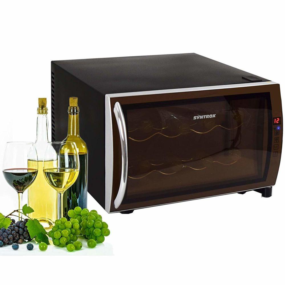 Syntrox Germany mini-bar réfrigérateur horizontal a vin silencieux de 25 litres
