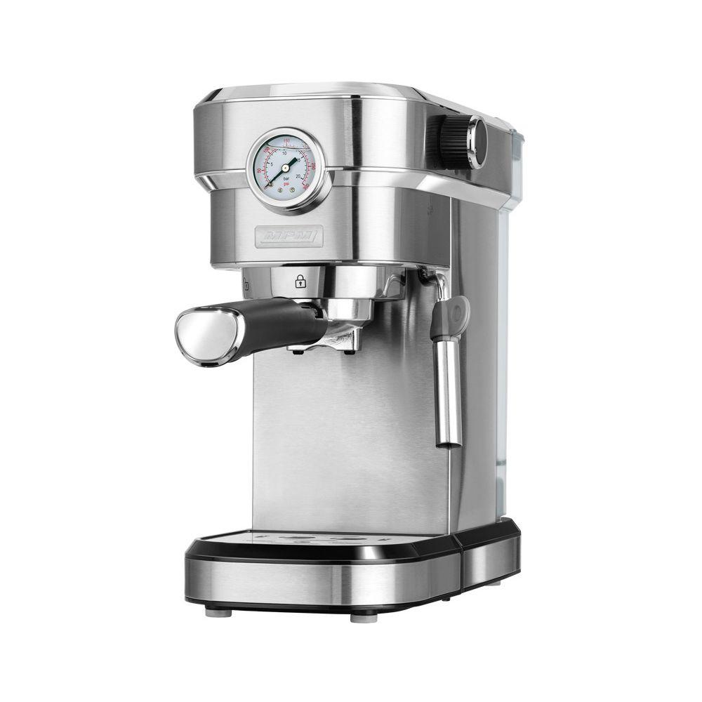 Mpm Machine à espresso et cappuccino 20 bars, mousseur à lait, chauffe-tasses 1350W MPM MKW-08M
