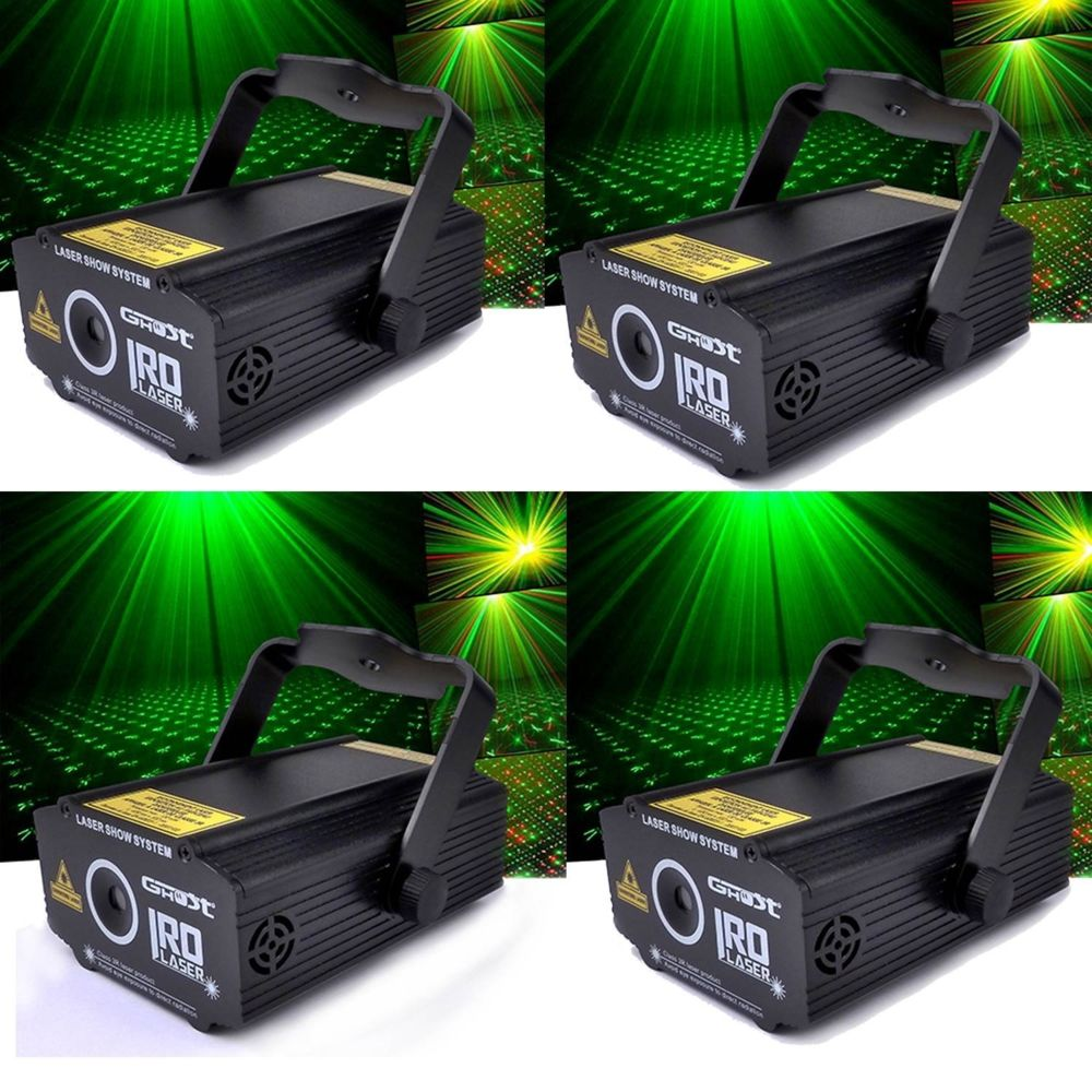 Ghost Pack 4 LASERS GHOST Rouge/Vert ultra léger effet strobe