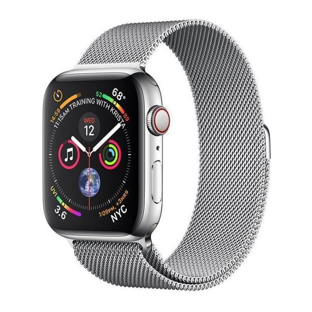 Apple - Aws 4 Cell 44 Steel/milanese - Apple Watch
