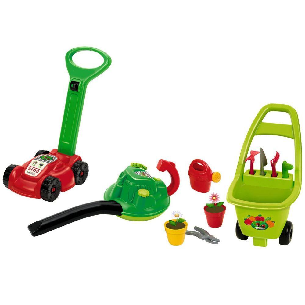 Ecoiffier Outillage de jardin pour enfants : Ensemble 3 en 1