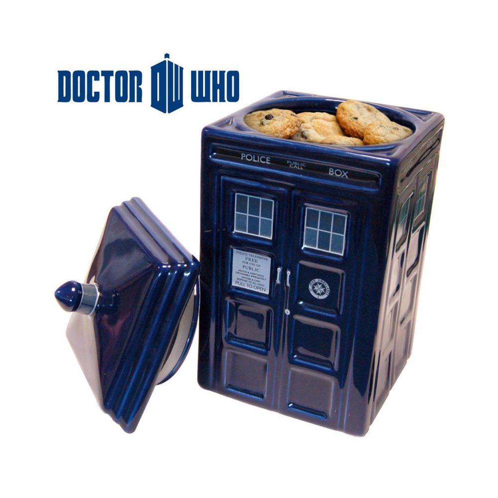 Kas Design Boîte à Gâteaux Céramique Tardis Docteur Who, Cadeau Geek Design
