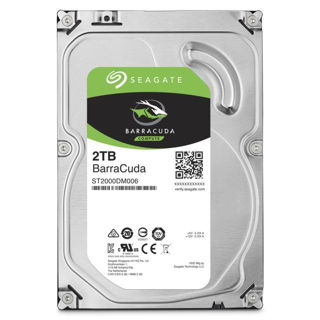 Disque Dur interne Seagate Barracuda 2 To - 3.5'' SATA III 6 Go/s - Cache 256 Mo