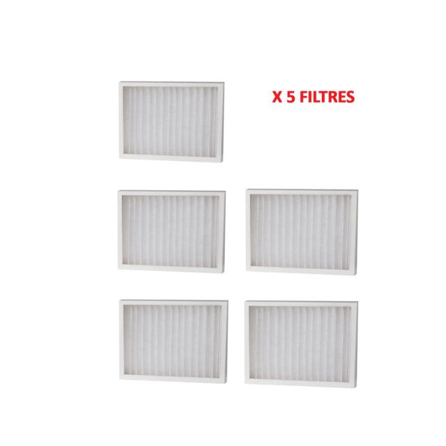 Woods - Lot de 5 Filtres Recharge SMF pour déshumidificateurs DS/ED/TDR - Déshumidificateur