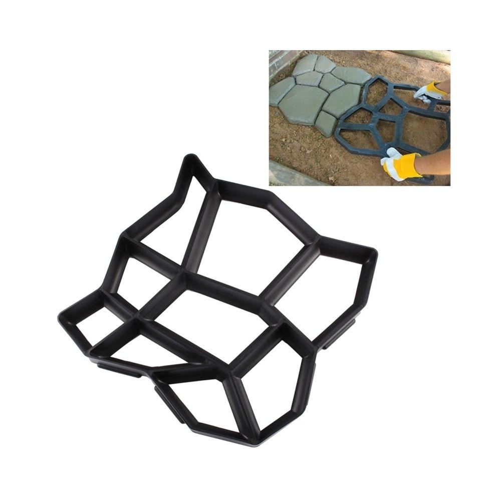 Wewoo Accessoire de jardinage Moule en plastique de de route concrète de ciment manuel de chaussée de jardin de DIY
