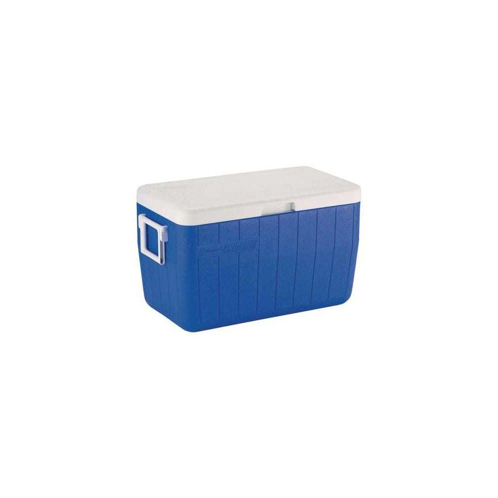 Coleman Glacière portable Coleman 48QT 45,7L bleu blanc