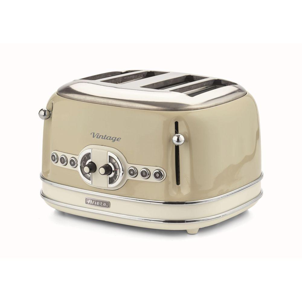 Ariete Grille-pain 4 fentes Vintage Beige - 156-1