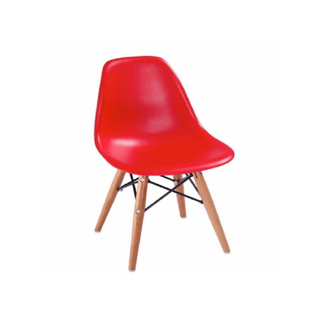Wewoo Chaise pliante en bois avec accoudoirs plastique pour enfants rouge