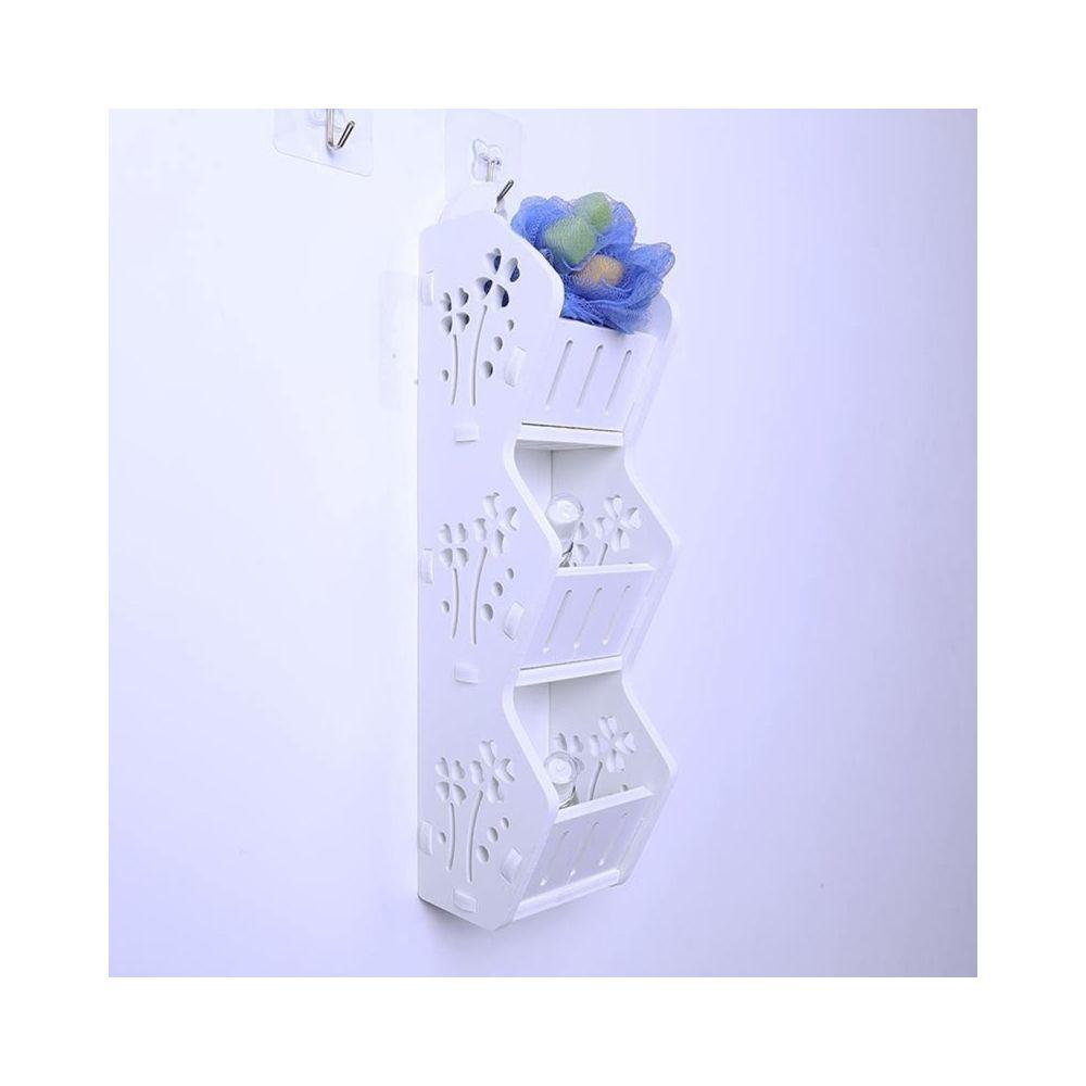 Wewoo Salle de bains de mode Trois couches Étagère de rangement Toilette Rack de stockage mural Support de Étagères murales, l