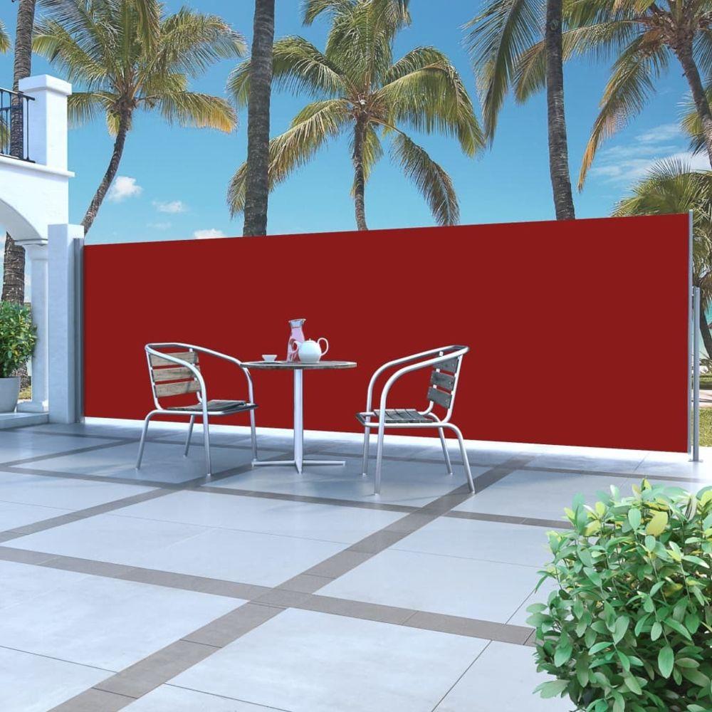 Vidaxl Auvent latéral rétractable 160 x 500 cm Rouge - Pelouses et jardins - Vie en extérieur - Parasols et voiles d'ombrage |