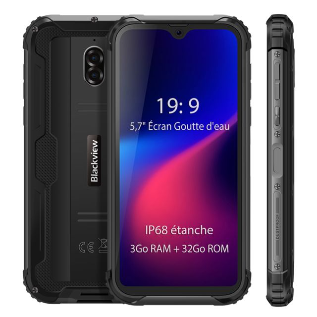 Blackview - Smartphone IP68 étanche 4G Blackview BV5900 5.7'' Écran 3Go Ram 32Go Rom Android 9.0 Téléphone portable Incassable - Noir Blackview   - Smartphone Android