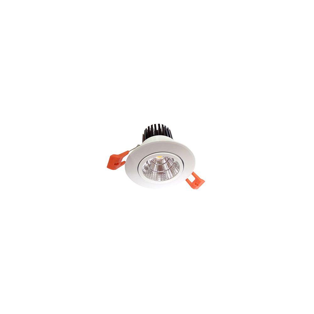 Girard Sudron Cavell Spot LED encastré inclinable IP42 - 10W - 4000K - Blanc + Driver 168875 inclus