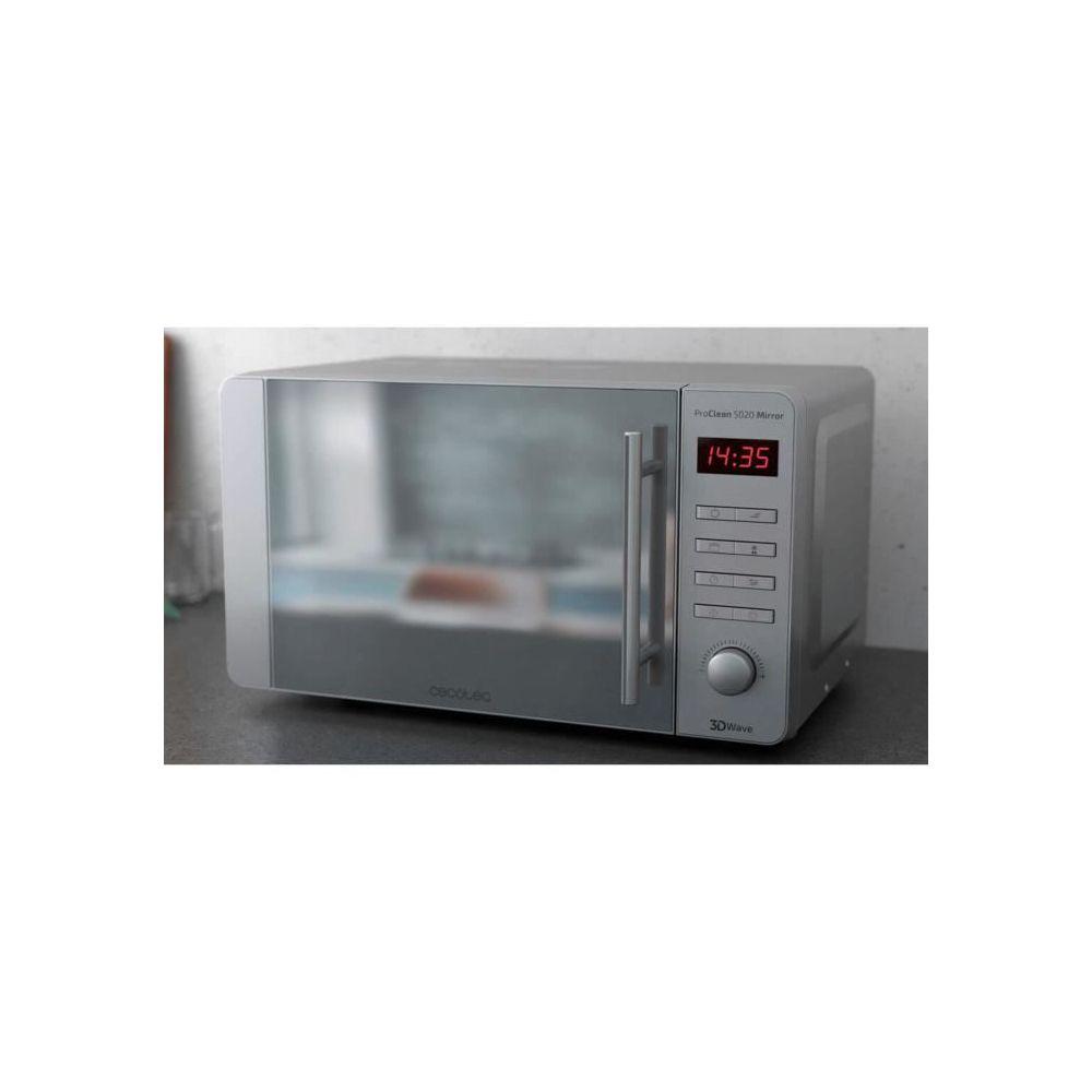 Cecotec Micro-ondes de 20L avec minuterie en acier inoxydable 1150W gris