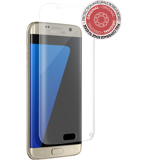 Force Glass - Verre trempé Galaxy S7 Edge - Transparent - Protection écran smartphone