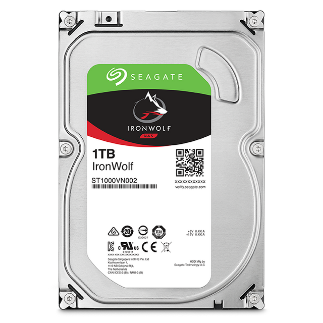 Seagate - Ironwolf 1 To - 3.5'' SATA III 6 Go/s - Cache 64 Mo - Disque Dur interne