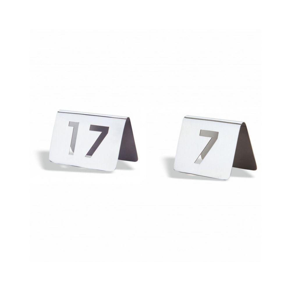 Pujadas Numéro de Table Inox 2 Chiffres 5,6 x 7,6 cm - Pujadas - Numéro : 27 Inox