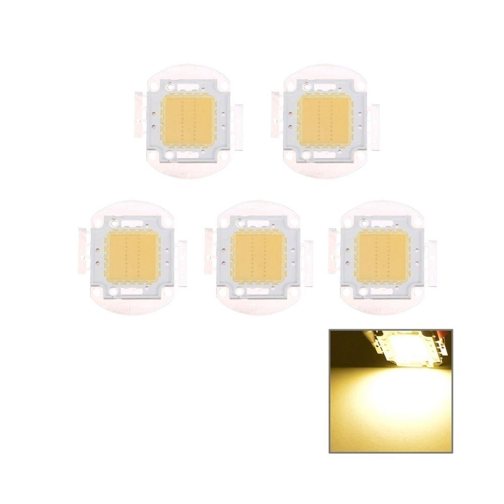 Wewoo LED Perle blanc Lampe à DEL intégrée haute puissance de 5 PCS 20W chaud