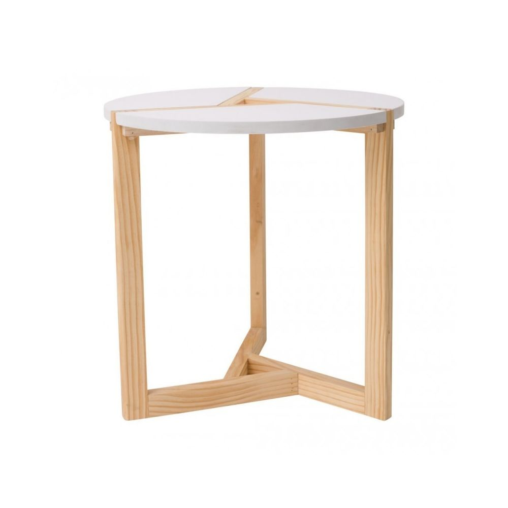 Mobili Rebecca Table du Salon Table Basse Bois Beige Blanc