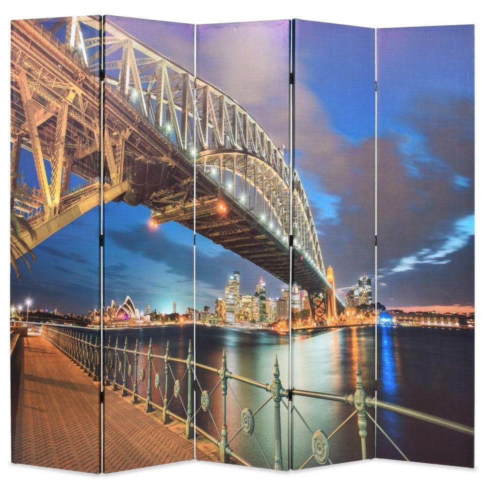 Vidaxl Cloison de séparation pliable 200x180 cm Harbour Bridge Sydney   Multicolore - Séparateurs de pièces - Meubles   Multico