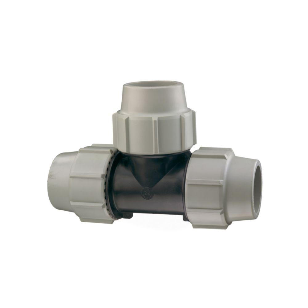 Plasson té à 90 degrés - egal -pour tube pe - diamètre 32 mm - plasson 704032