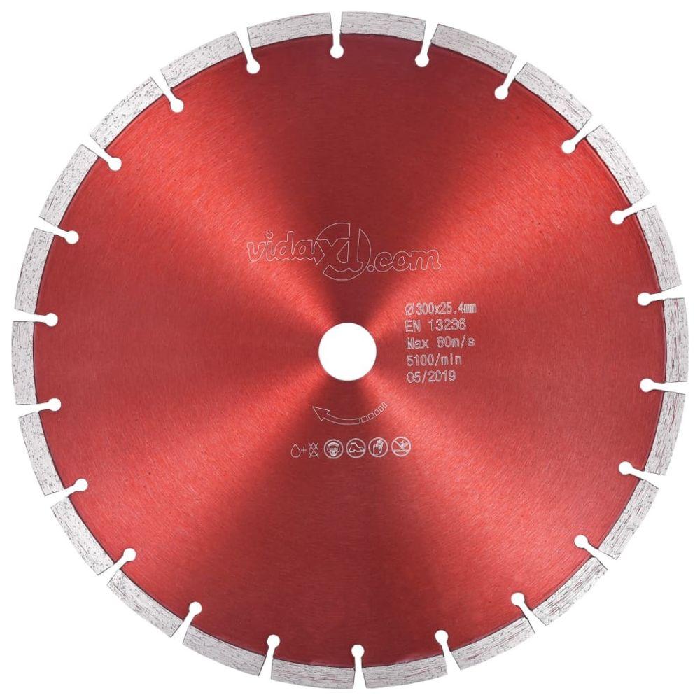 Vidaxl vidaXL Disque de coupe diamanté Acier 300 mm