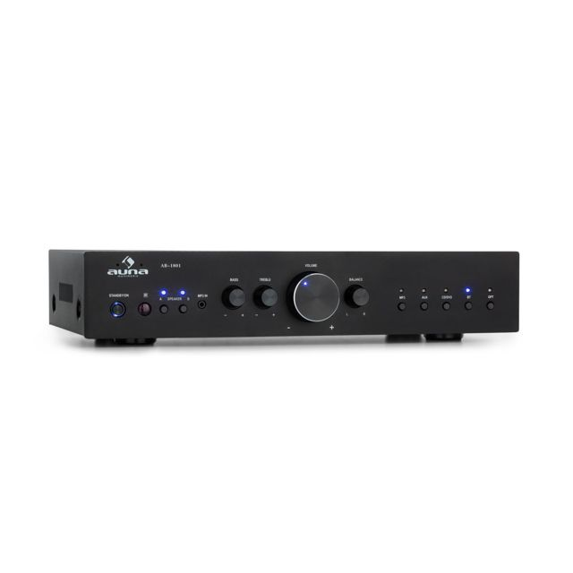 Auna - auna AV2-CD608BT Amplificateur HiFi Stéréo 4 canaux - Bluetooth / USB MP3 / AUX - 4x 100W RMS - Noir - Hifi