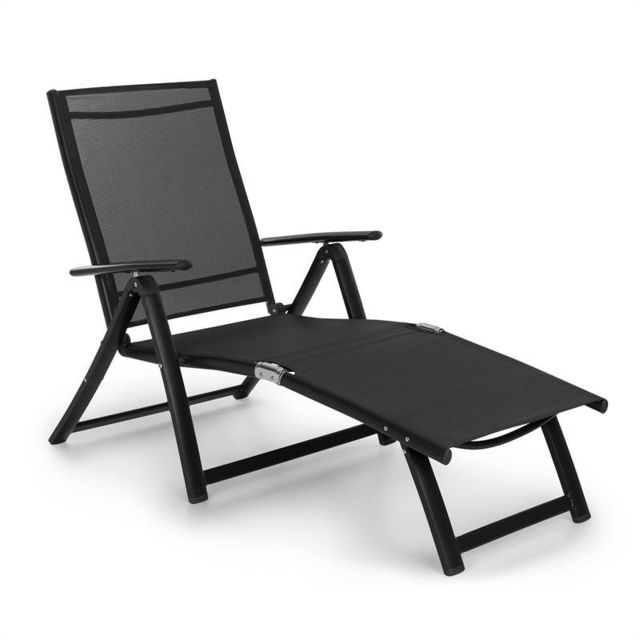 blumfeldt pomporto lounge chaise longue pvc pe aluminium 7 positions anthracite