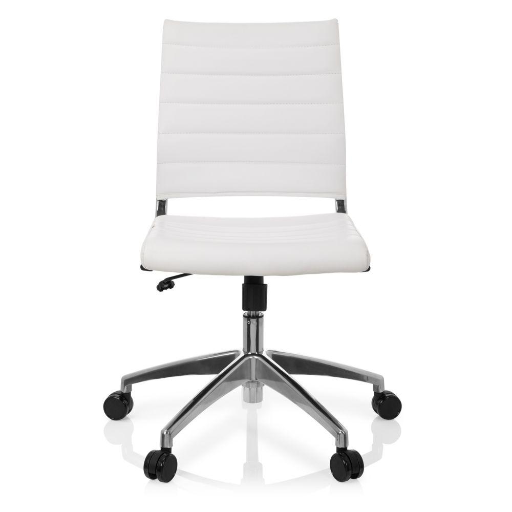 Hjh Office Chaise de bureau / Chaise pivotante TRISHA simili cuir blanc hjh OFFICE