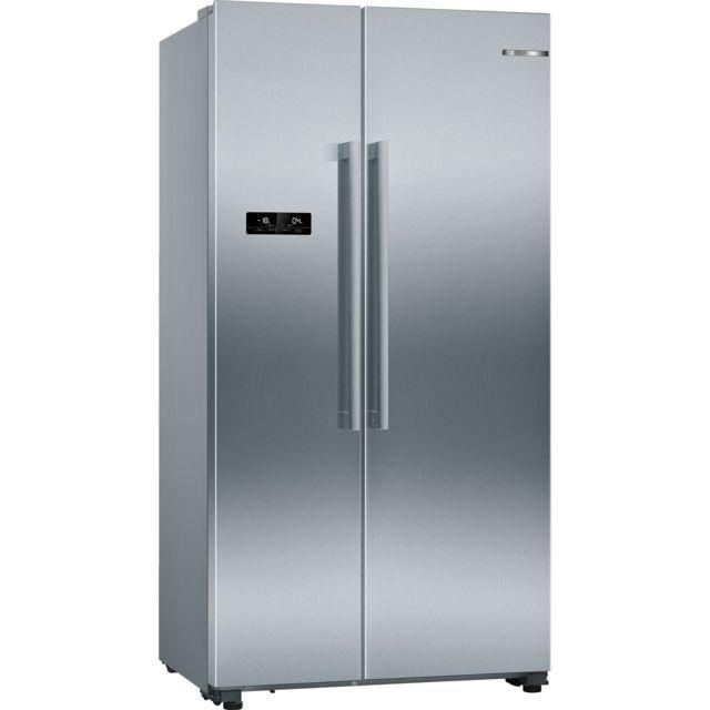 Bosch KAN90VI30 frigo am/éricain Autonome, Acier inoxydable, Am/éricain, LED, Door-on-door, toucher frigos am/éricains