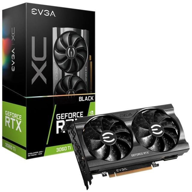 Evga - GeForce RTX 3060 Ti XC BLACK GAMING - Dual Fan - 8Go - Carte Graphique NVIDIA
