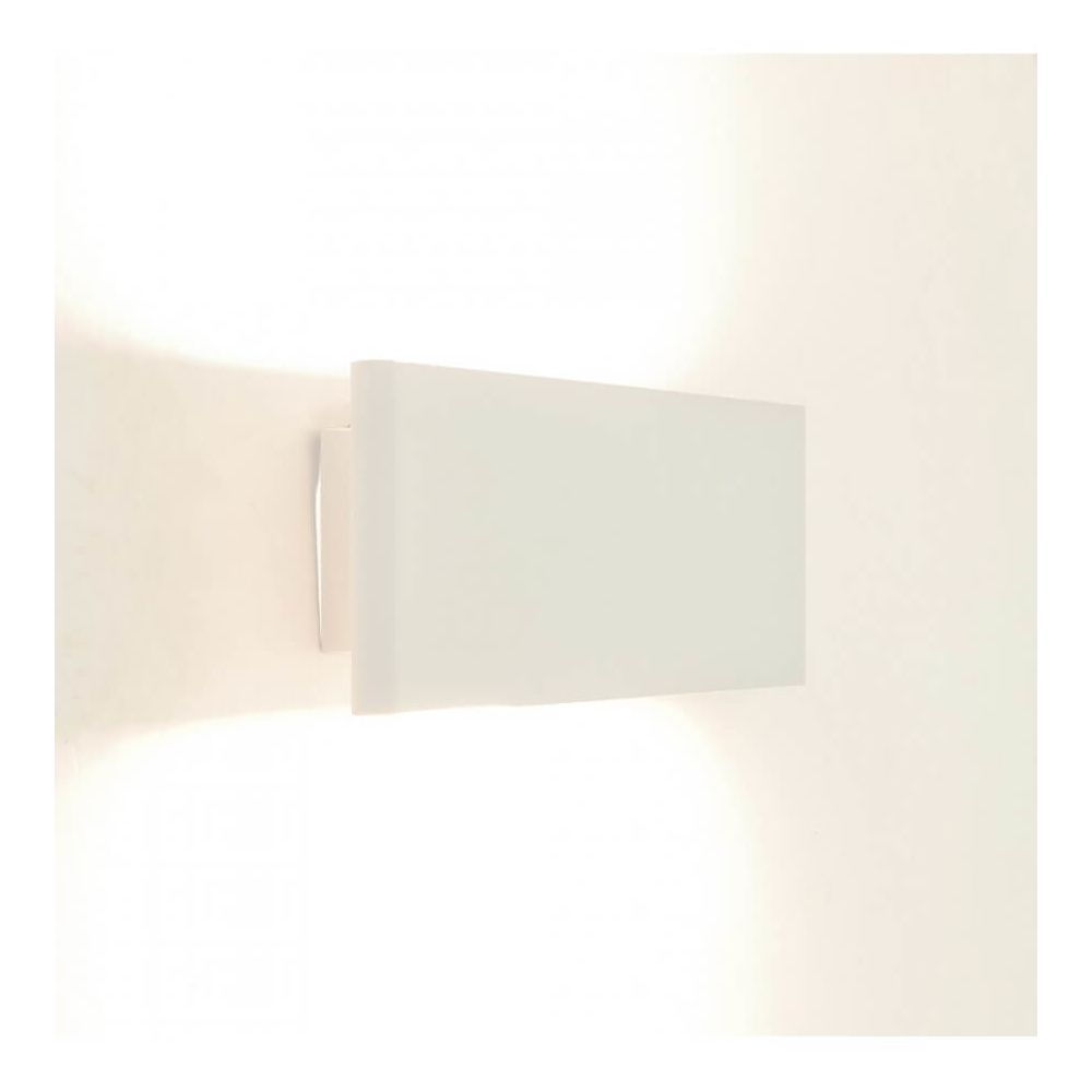 Kosilum Applique murale LED blanche en aluminium brossé - Cruise