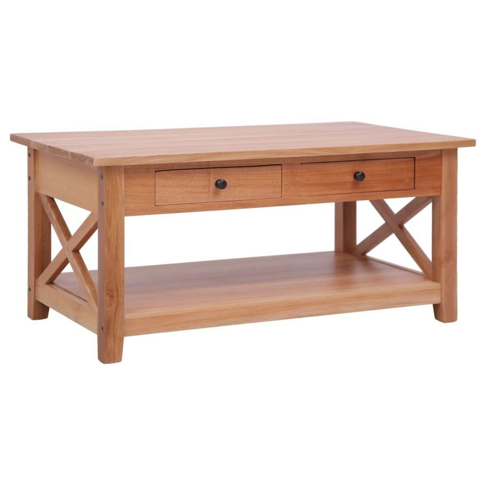 Vidaxl vidaXL Table basse 100x55x46 cm Bois d'acajou massif