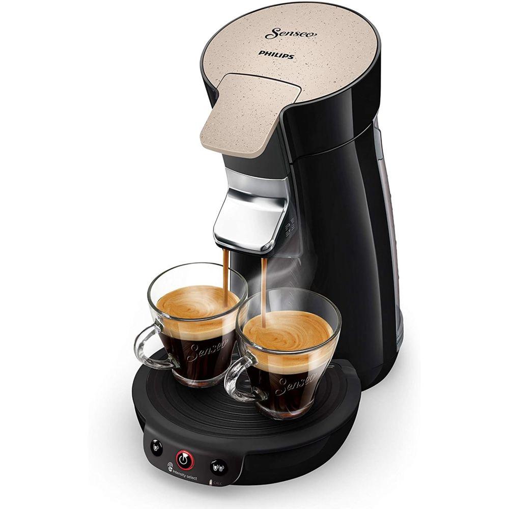 Philips Machine à Café à Dosettes SENSEO de 0,9L 1450W nougat noir