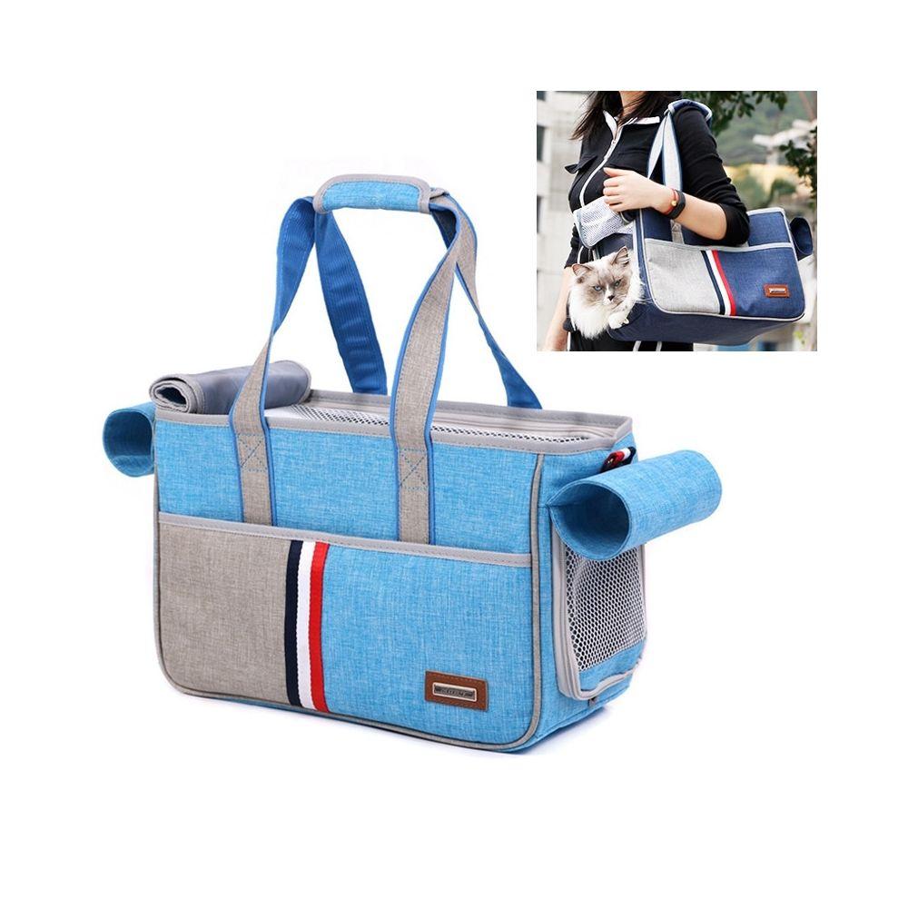 Wewoo DODOPET Outdoor Portable Oxford Tissu Chat Chien Pet Carrier Bag Sac à main à bandoulièreTaille 29 x 20 x 51 cm Bleu cie