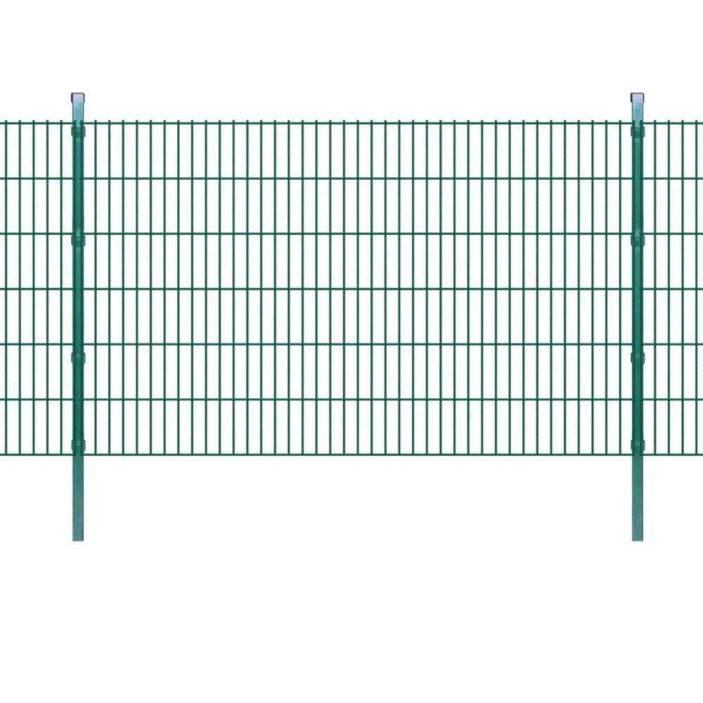 Uco UCO Panneaux et poteaux de clôture 2D pour jardin 2008x1230 mm 10 m