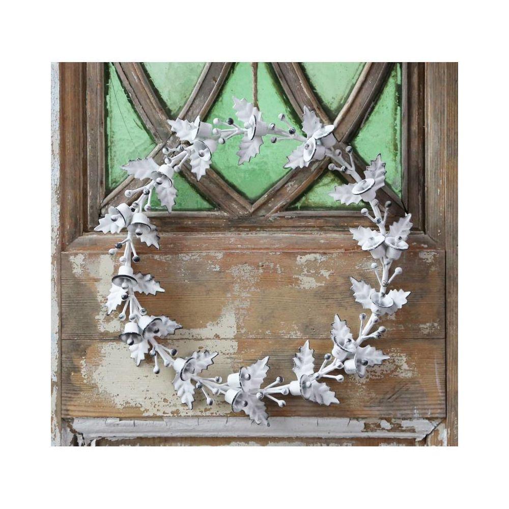 que  suis -je - ajonc - 21 juillet  bravo Martine Couronne-murale-ou-a-poser-decorative-decoration-murale-ronde-fronton-motif-feuilles-houx-et-clochettes-fer-blanc