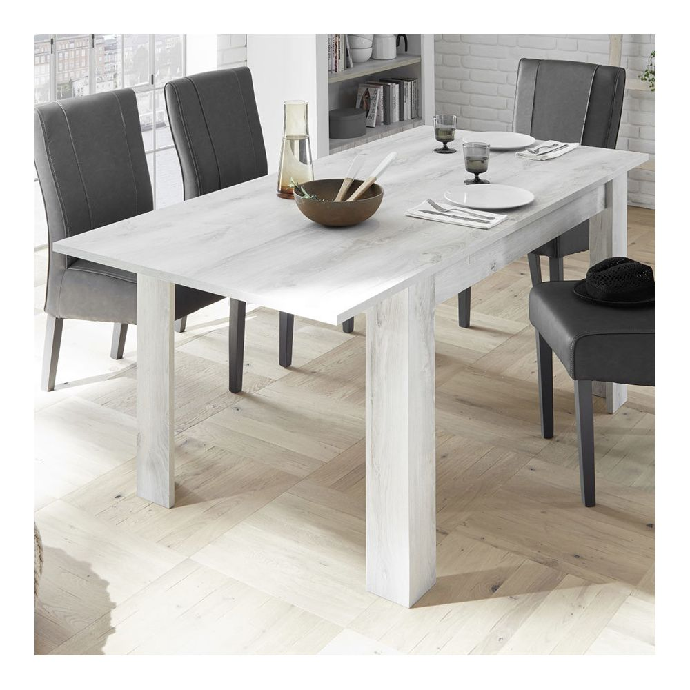 Sofamobili Table à manger extensible 140 cm couleur pin SERENA 3