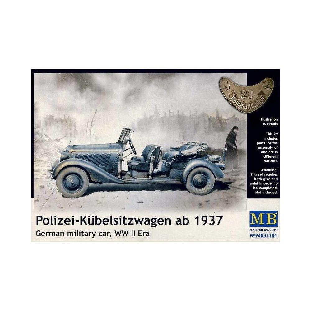 Master Box Maquette Voiture Maquette Camion Polizei-kübelsitzwagen Ab 1937 German Military Car