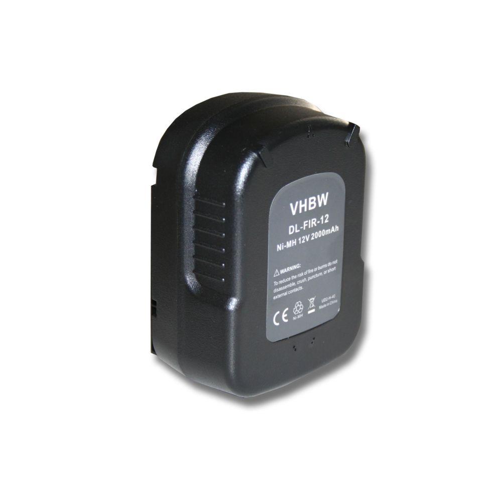 Vhbw vhbw Batterie Ni-MH 2000mAh (12V) outils électriques Black & Decker XTC12IK, XTC12IKH, Firestorm FS1200D, FS1200D-2, FS1